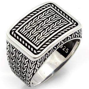 925 Sterling Silver Men's Ring